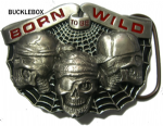 Born to be Wild Belt Buckle + display stand